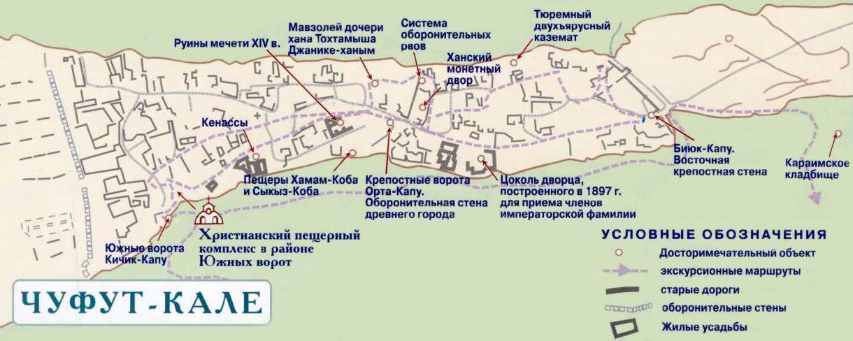 Чуфут-Кале на карте