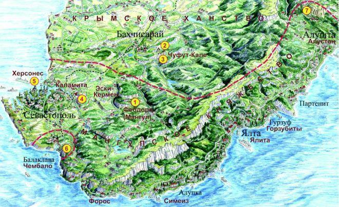 Где находится пещерный город Чуфут-Кале